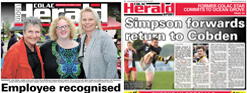 Colac Herald Front Cover