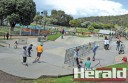 Lorne's skate park became a hub of activity during the school holidays.