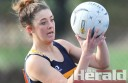 Western Eagles youngster Ebony Reid played wing defence and goal defence in the Eagles' win against Otway Districts.