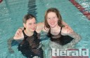 Colac Swimming Club members Joanne Towers and Emma Hansen are looking forward to the London Olympics.