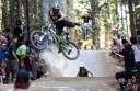 Colac's Ryan De La Rue gets air during the Crankworx mountain bike festival in Whistler, Canada.