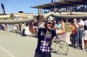 Forrest mountain bike rider Jess Douglas has won a third World Solo 24-hour Mountain Bike Championship.