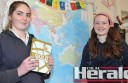 Lavers Hill K-12 students Sarah Marriner and Krystal Steen will head overseas.