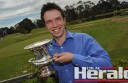 Colac golfer Jye Tillack staged a late comeback to win this year's Colac Golf Club championship.