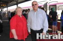 Colac Otway Shire mayor Lyn Russell and councillor Brian Crook say communities from Geelong to Warrnambool will benefit from more train services.