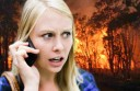 Woman-on-phone-and-fire