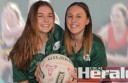 Colac district netball players Maggie, left, and Morgan Eldridge will represent the Colac association in the opening round of this year's Western Region State League at Warrnambool