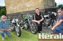 Colac motorbike enthusiasts, from left, Rod Menzies, Chris Quinn and Les Bowen are looking forward to this weekend's Colac Custom Car and Bike Show.