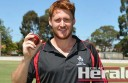 Colac cricketer Nathan Humphrey took a hat-trick against Irrewarra.