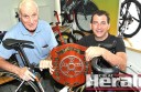 Harry Salmon and grandson Darren Allan are gearing up for the Allan and Salmon family shield cycling events.