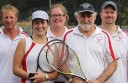 Swan Marsh enjoyed an A Reserve grand final win against Cororooke. Pictured, from left, are Andrew Kent, Louise McNamara, Viola Gamin Heath, Michael Sproules and Gerard Stanley. Luba DeRoy is absent.