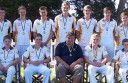 City United's under-16 cricket team, pictured with coach Leigh Garner, defeated Colac in the Colac District Cricket Association grand final.