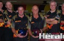 Colac 10-pin bowlers, from left, Daniel Billing, Merv Billing, Stephen Hay, Neil Thompson, Gary Black and Kevin Bagg will compete in a Country Cup this weekend.