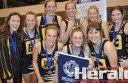 Colac's premiership side, coach Kelsey Lang, Jessie Lang, Brooke Allan, Gabi Rieniets, Taylor Gray and Mollie O'Brien, front from left, Chloe Lang, Kate Prigg and Asha Murnane.
