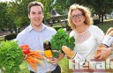 Colac Otway Shire Council's Michael Swanson and Irrewarra Sourdough's Bronwynne Calvert hope to push ahead with Colac's own healthy eating program.