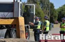 NEW LAWS: Colac police worked with members of Melbourne's new heavy vehicles police unit during a truck inspection blitz this week on the Princes Highway.