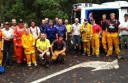 Emergency service teams combined to rescue an injured hiker at Lorne's Erskine Falls Walking Track.