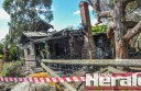 Fire gutted a 1920s weatherboard home in Strachan Street, Birregurra, but the home's occupant was away.