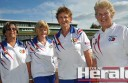 ity's Sandra Woods, Hilda Bentley, Joan Williamson and skipper Elwyn Williamson won Corangamite bowls' tournament of tournaments.