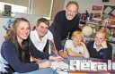 Lavers Hill K-12 College's new principal Andrew Kohane is getting to know his students at the Otways school. He is pictured with Jasmine Steen, Year 11, Kyle O'Shannassy, Year Nine, Harley Willis, Year Eight, and Chloe Hutchins-Read, Year 11.