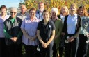 Pictured is the Colac Area Health palliative care team, including allied health workers, volunteers and palliative care nurses.