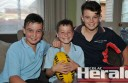 Liam Mulder, centre, has cystic fibrosis but loves being active with older brothers Ryan, 12, and Lachlan, 14.