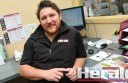 Colac Herald advertising manager Jake Veale says he was honoured to be the  latest winner of an employee of the month award sponsored by WDEA.