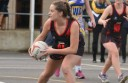 South Colac goaler Tegan McNamara, pictured in Bombers colours, and her sister Nadine played a game for Cobden during the Roos' bye at the weekend.