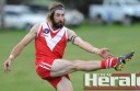 Alvie forward Tom McCrickard booted 12 goals against Otway Districts at the weekend for the second time in five years.