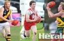 Colac district footballers Corey Baulch, of Simpson, Alvie's Liam McGuane and Forrest's Shaun Wells will enter tonight's league vote count as favourites.