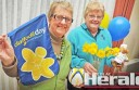 : Colac Cancer Council's Heather Holland, left, and Iris Murch will raise money for research on Daffodil Day on Friday.
