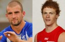 Ben Cunnington and Gary Rohan, both from Cobden, face off for different teams in an AFL final this weekend.