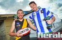 Colac electricians and workmates Joel Hayward and Clay Brewer will become rivals in tomorrow's Colac district senior football preliminary final when  Hayward's Simpson team takes on Brewer and his South Colac teammates for a spot in the grand final.