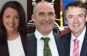 Candidates for the seat of Polwarth at the state election: Labor's Libby Coker, the Greens' Simon Northeast, and the Liberals' Terry Mulder.
