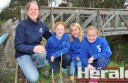 Pupils from Birregurra Primary School including Kara Turner, Ebony Armistead and Chantal Godfrey will help plant more than 20,000 trees at Birregurra and surrounding areas during spring. The pupils are pictured with Upper Barwon Landcare Network co-ordinator Mandy Baker.