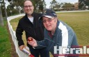 Colac cricket association president Michael Rafaniello, left, and general manager Craig Murdoch say a move to an all one-day Division One competition could boost participation.