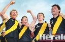 Simpson footballers ended a 21-year premiership drought and made history in their 103-point grand final win against Birregurra.
