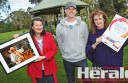 Birregurra Festival and Art Show organisers, from left, Fiona Brandscheid, Andy Forssman and Vicki Jeffrey are putting the finishing touches on preparations for the annual festival this weekend.