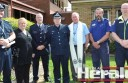 Colac police hosted their annual National Police Remembrance Day ceremony this week. Pictured, from left, at Colac police station are acting Leading Senior Constable Jonathan Parish, Colac Otway Shire mayor Lyn Russell, Colac State Emergency Services controller James Ingram, Surf Coast Police Service Area Inspector Peter Seel, Colac police chaplain Father Graham Snell, ambulance officer Anthony Roe and Colac ambulance team manger Duncan Erwin.
