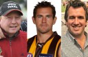 From left, Rick Burnett, Luke Hodge and Scott Gull.an