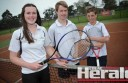 Colac Lawn Tennis Club, Colac indoor tennis and the Polwarth tennis association have joined forces to boost tennis in the district. Ruby O'Dowd, 16, Bailey Lingard, 15, and Tom Ennor, 14, are part of Colac Lawn's new A Grade team.
