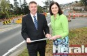 Polwarth MP Terry Mulder and Corangamite MP Sarah Henderson inspect the Princes Highway upgrade at Winchelsea. They say the highway upgrade between Winchelsea and Geelong will be complete by winter 2015, and work within Winchelsea will be complete by 2016.