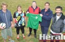 Colac Otway Rovers soccer club has formed a partnership with the Beeac Recreation Reserve to play its 2015 home matches at Beeac. Rovers officials and Beeac Recreation Reserve members, from left, Liam Power, Sam Hare, Marg Catlin, Scott Richardson and John Clarke gathered at the venue to celebrate the allegiance.