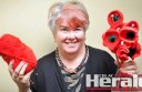 Colac's Heather Green is encouraging Colac district craft enthusiasts to contribute to a field of knitted or stitched poppies for Anzac Day commemorations next year.