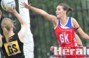 Lorne netball export Zoe Donne, pictured right against Colac Tigers' Maddy Allan earlier this year, has earned a spot in Victoria's under-21 netball squad.