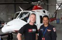 Intensive care flight paramedic Ray Cornelius, right, treated Melbourne motorcyclist Ryan Carpenter after his motorbike crashed into a fallen tree near Lorne earlier this year.
