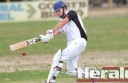 Irrewarra cricketer Sean McGuane, pictured, blasted 54 runs, not out, during the Redbacks' big win against Colac West at Irrewarra on Saturday.