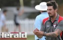 Division Two cricket team Birregurra has shown potential to return to Colac district's top grade after a dominant performance in the association's Twenty20 competition. Steve Lusher, pictured, claimed three wickets to help the Saints book a spot in the T20 grand final.
