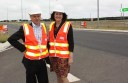 VicRoads project director Tony Hedley and Corangamite MP Sarah Henderson helped open a new section of the Princes Highway at Waurn Ponds this week.