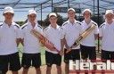 Colac district junior cricketers, from left, Carl Daffy, Ben Vicary, Alex Inglis, Deakin Carmichael, Tyler Flanigan and Clay Mulgrew earned selection in CDCA Country Week squads for matches next week. Selectors have named six Country Week teams.